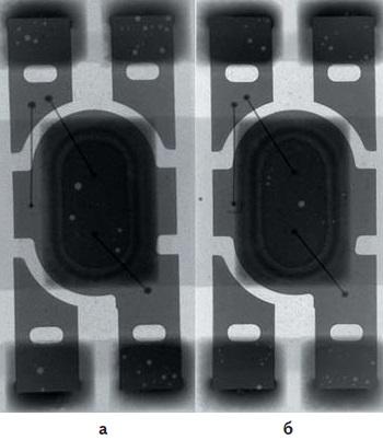 Рентгеновские снимки светодиодов, пасты 4-5
