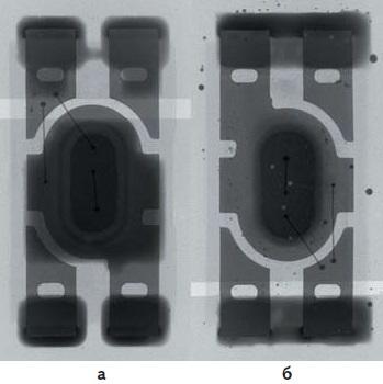 Рентгеновские снимки светодиодов, пасты 3, 8