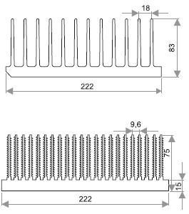 Профили моделируемых радиаторов
