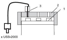 Устройство дляизмерения температуры кристаллов светодиодной лампы